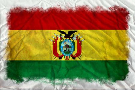 Bolivia grunge flag Stock Photo - 12364847