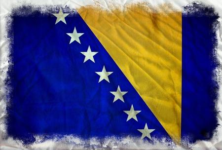 herzegovina: Bosnia and Herzegovina grunge flag Stock Photo