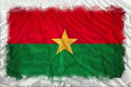 burkina faso: Burkina Faso grunge flag