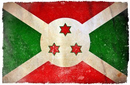 burundi: Burundi grunge flag
