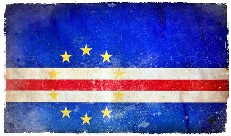 cape verde: Cape Verde grunge flag