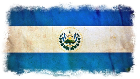 El Salvador grunge flag photo