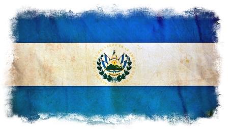 el salvador flag: El Salvador grunge flag Stock Photo