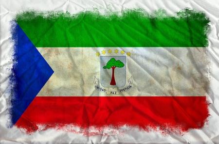 Guinea Ecuatorial bandera del grunge Foto de archivo