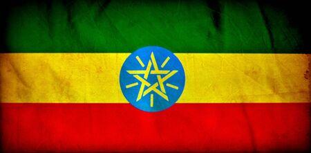 Ethiopia grunge flag photo