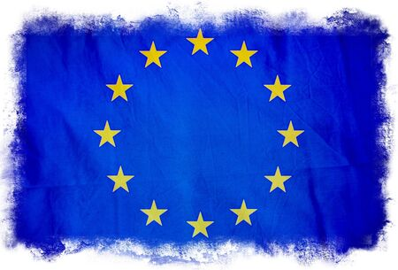 European Union grunge flag photo