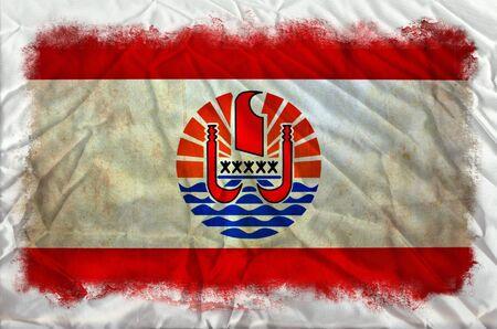 french polynesia: French Polynesia grunge flag Stock Photo