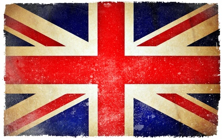 gewerkschaft: Gro�britannien Grunge-Flagge