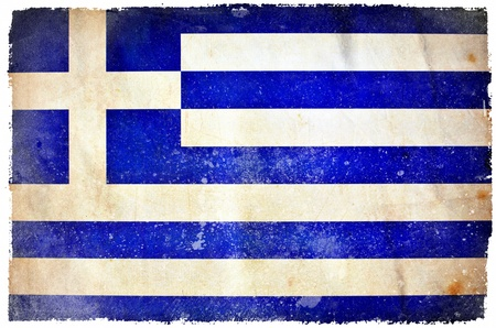 Greece grunge flag photo