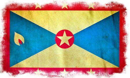 grenada: Grenada grunge flag Stock Photo