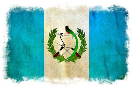 Guatemala grunge flag photo
