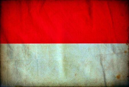 Indonesia grunge flag photo