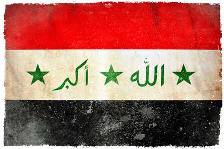 Iraq grunge flag photo
