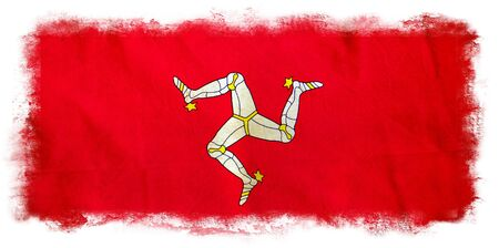 Isle of Man grunge flag photo