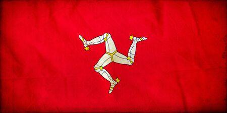 Isle of Man grunge flag photo