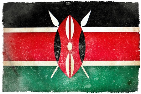 Kenya grunge flag photo
