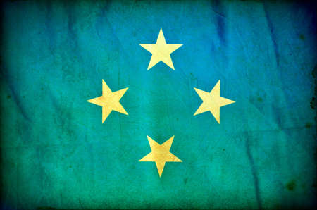 Micronesia grunge flag photo