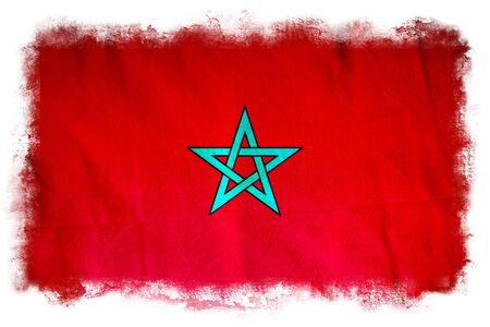 Morocco grungeflag photo