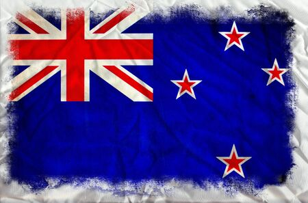 New Zealand grunge flag photo
