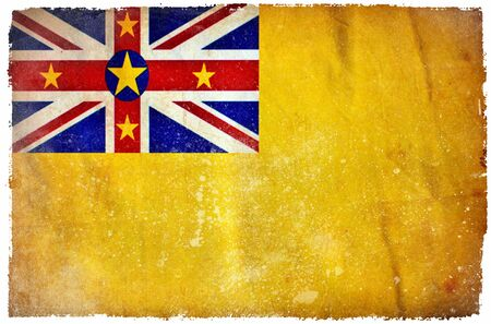 niue: Niue grunge flag Stock Photo