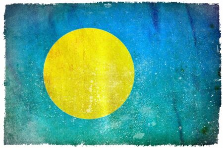 palau: Palau grunge flag Stock Photo