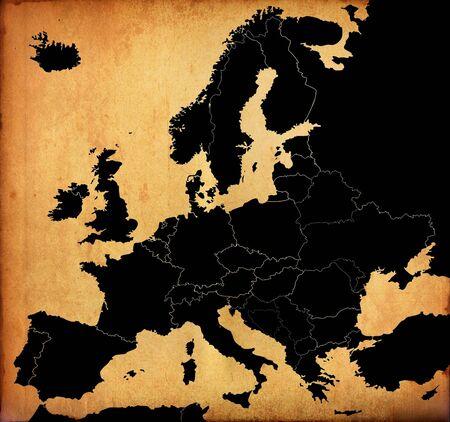 Vintage Europe map Stock Photo - 12414699