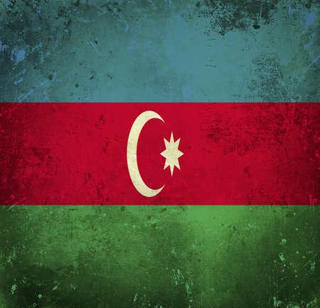 Grunge flag of Azerbaijan photo