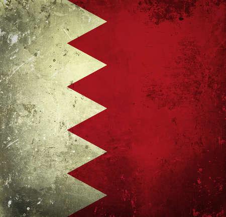 Grunge flag of Bahrain photo