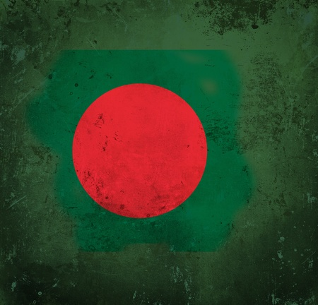 Grunge flag of Bangladesh photo