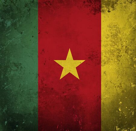 cameroon: Grunge flag of Cameroon Stock Photo