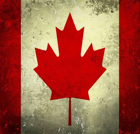Grunge flag of Canada photo