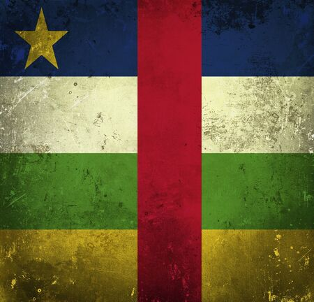 Grunge flag of Central African Republic photo