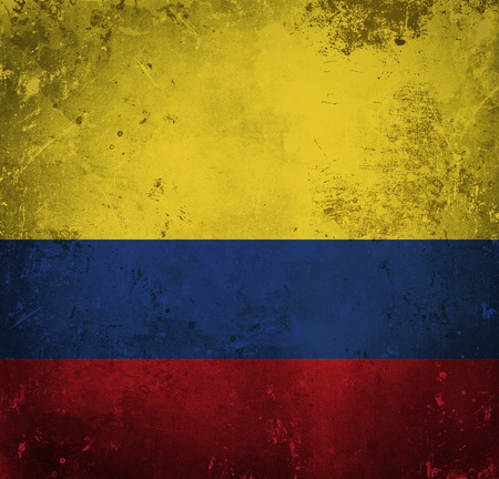 Grunge flag of Colombia photo