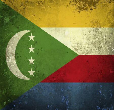 comoros: Grunge flag of Comoros