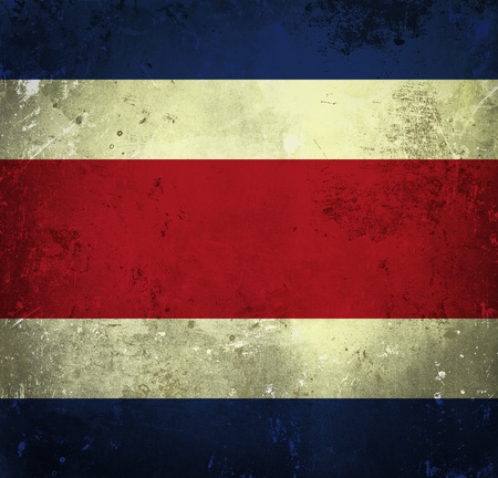 Grunge flag of Costa Rica photo