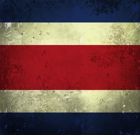 costa rica flag: Grunge flag of Costa Rica