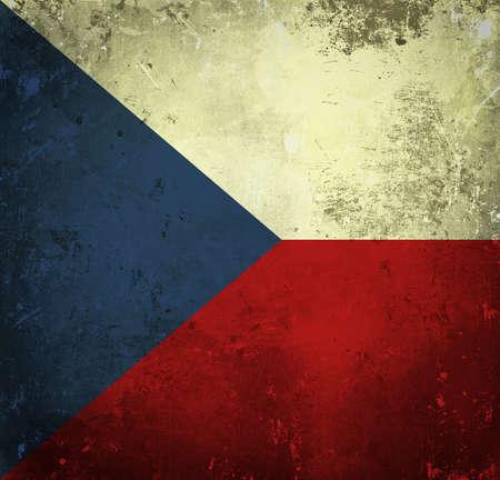 Grunge flag of Czech Republic photo