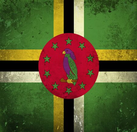 dominica: Grunge flag of Dominica