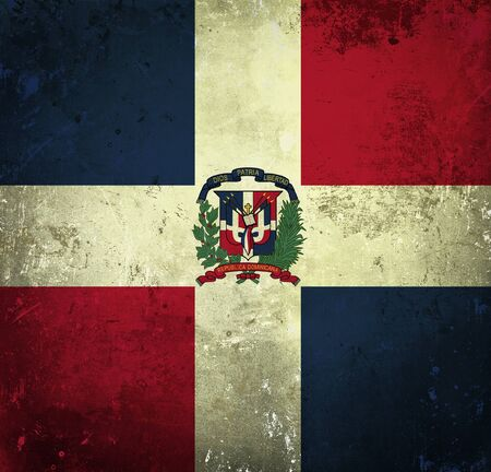 Grunge flag of Dominican Republic photo