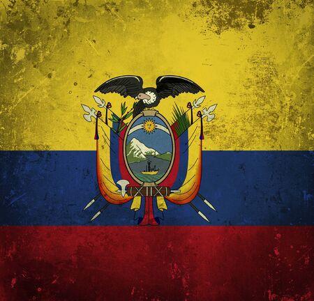 Grunge flag of Ecuador photo