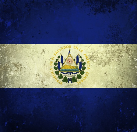 Grunge flag of El Salvador photo