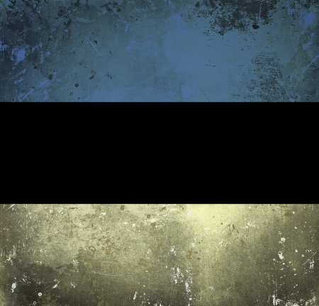 Grunge flag of Estonia photo
