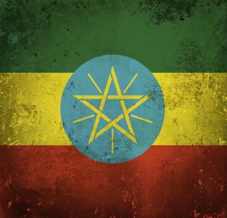 Grunge flag of Ethiopia photo