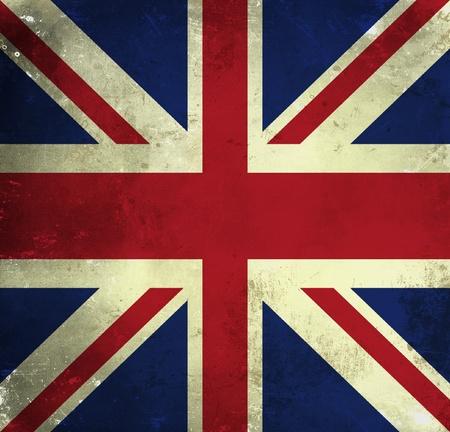 Grunge flag of Great Britain photo