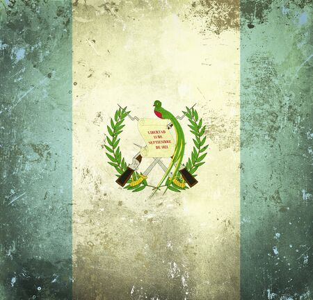Grunge flag of Guatemala photo