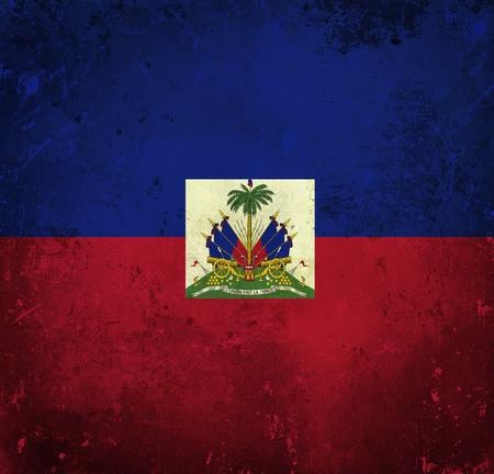 Grunge flag of Haiti photo