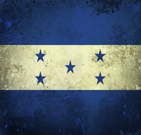 Grunge flag of Honduras photo