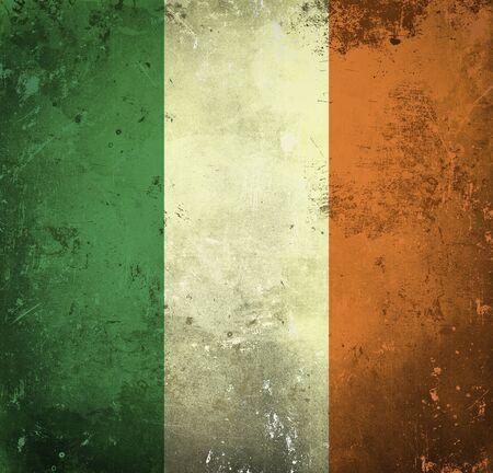 Grunge flag of Ireland photo