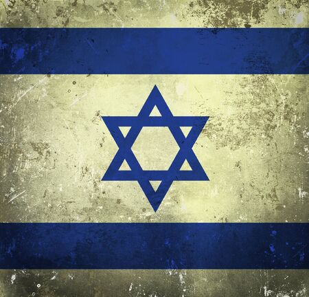 Grunge flag of Israel photo