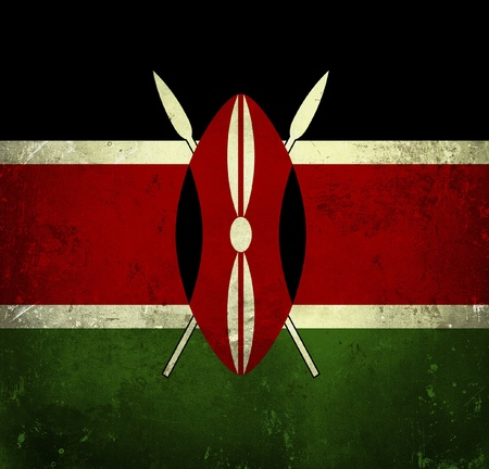 Grunge flag of Kenya photo